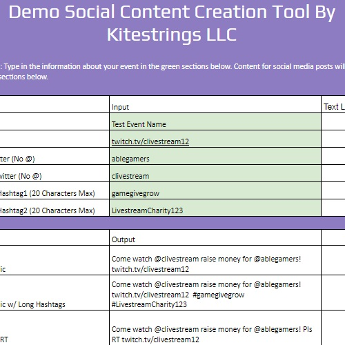 Basic Social Content Tool
