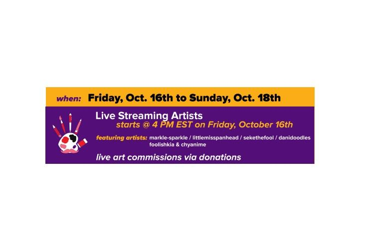 MarkiArtists for Charity Art Livestream
